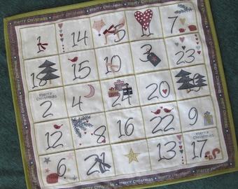 Scandinavian Advent Calendar by Stof, Fox Christmas Decoration, Wallhanging, Holiday Decor