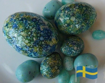 Swedish Holiday Egg Collection Celebrating Bishop Hill, Illinois: Duck, Chicken, Quail Eggs - Made To Order