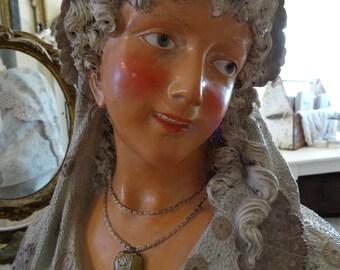 SALE Vintage Stunning Victorian Lady Bust Statue
