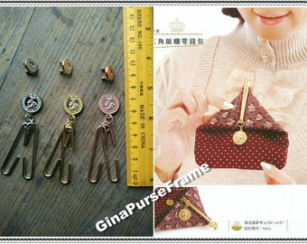 1set - 5cm (2 inch) Coin metal frame / Coin purse frame / Magnetic frame for purse bag making (4colors)