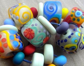 Soft & Tender - Handmade Lampwork Glass Bead Set (21) by Anne Schelling, SRA
