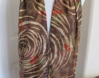 """Caron MIller Scarf // Beautiful Copper Rust 2 Layer Soft Silky Scarf // 9"""" x 70"""" Long // Best of the Best"""