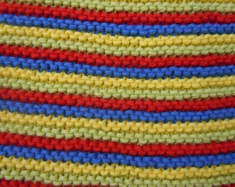 Hand Knitted Cotton Baby Blanket