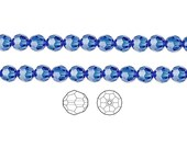 Swarovski Crystal Beads Sapphire 5000 Faceted Round 6mm Package of 12