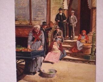 orig postcard LITTLE ITALY Vegetable Stand 1905 udb New York City