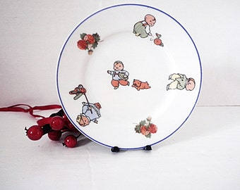 Antique Happifats Childs Tea Set Plate Beyer & Bock Germany 1920's Chubby Children