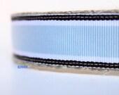 Stripe Dog Collar, Blue and Brown Dog Collar, Adjustable Dog Collar, Boy Dog Collar