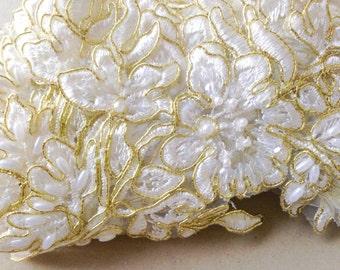 Gold Bridal Lace applique - AppSet-24 Gold