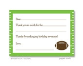 Football PRINTABLE Fill-in-the-Blank Thank You Note