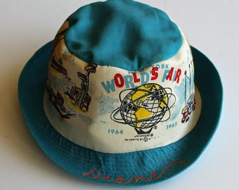 Is your name Diane?...If so, you NEED this 1960's New York World's Fair HAT...Unisphere...Arlington Hats...Union Made