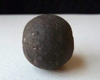 Antique African Clay Bead - Old Spindle Whorl Bead - 23x26mm - Authentic (sb3)