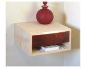 """2 Bedside tables, Birch with cocobolo drawer, 17"""" Width"""