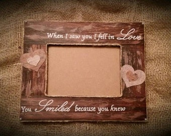 I Fell in love picture frame