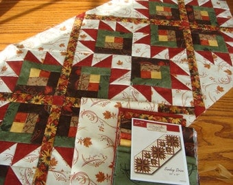 Quilt kit- Sunday Drive Table Runner Kit With Maple Island Fabric from Moda