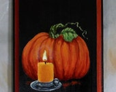 """Fruit of the Vine, hand painted board with routed edge, 5"""" X 7"""""""