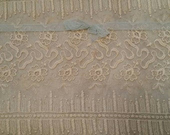 Exquisite Very Wide Antique French Lace Trim on Original Packaging Victorian Clothing Trim