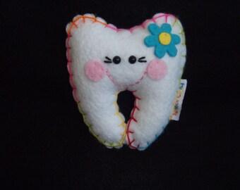 Mini Tooth Fairy Pillow (Rainbow Thread)
