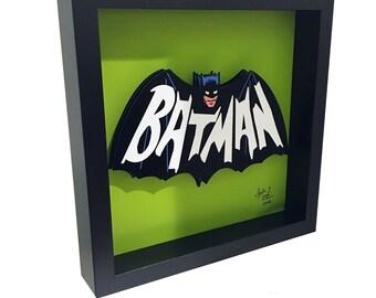 Batman 1966 TV Show Logo Batman 66 Bat Symbol 3D Pop Art comic Artwork