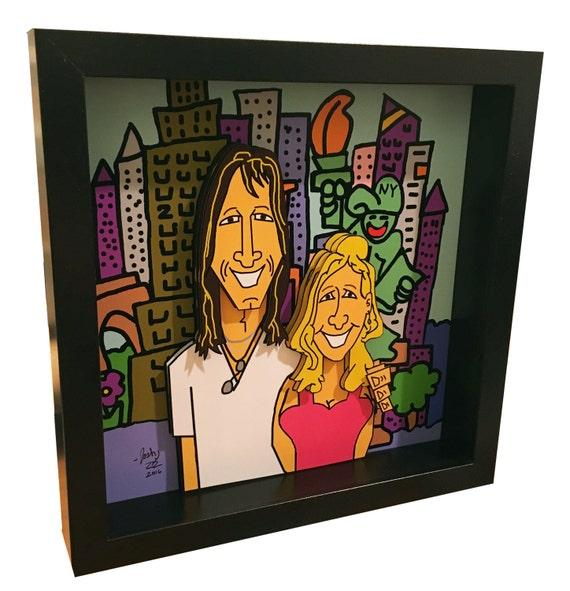 ... Wedding Gift Custom Wedding Gift Custom Art Engagement Gift 3D Pop Art