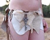 Gatekeeper gray and brown wrap skirt