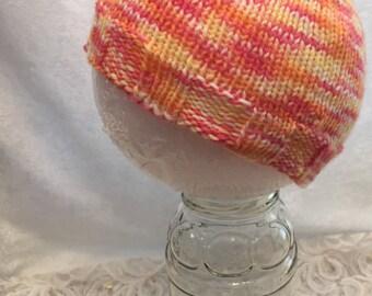 Baby Hat, Baby Beanie, Orange Hat, Pink Hat, Orange Baby Hat, Pink Baby Hat, Baby Beanie, Orange Beanie, Pink Beanie, KnitWittyKnots