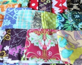 Quilting Cotton Scrap Bag - Fat Quarters FQ, 1/2 Yards, Cotton Fabric, Sewing Projects, Fabric Scrap Bag