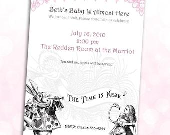 Alice in Wonderland Baby Shower Invitations *Digital Download*