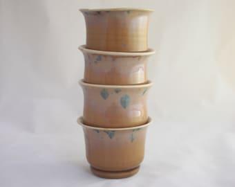 Dessert Mini Bowls, Set of 4 - Prussian Crystalline