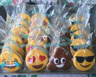 Emoji Text Sugar Cookies