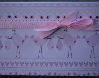 New Baby Girl Card, Baby Girl Congrats Card, Baby Shower Card, Newborn Congrats Card