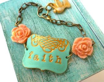 Faith Bracelet - Inspirational Quote - Christian Jewelry