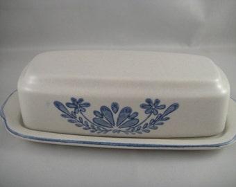 Yorktowne Pattern Pfaltzgraff Side Design Covered Butter Dish 1/4 Pound