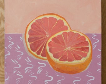 Grapefruit on Table