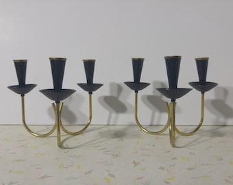 Vintage Brass Candle Holder Mid Century Modern Modern Denmark Sweden Candle Holder