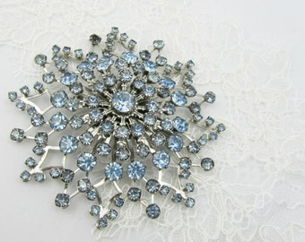 Bridal Brooch, Something Blue, Vintage Bride, Bridal Jewelry, Vintage Brooch, Bridal Accessories