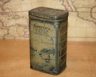 Vintage Cocoa Tin - Kwatta - item #1795