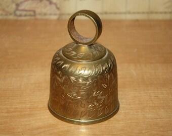 Vintage Brass Bell - Engraved - Item #1942
