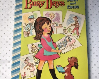 1961 Whitman Busy Days Coloring Book