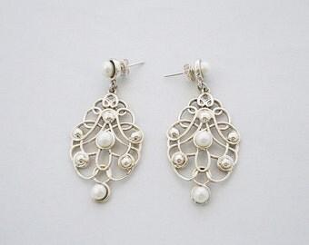 Pearl Earrings Chandelier