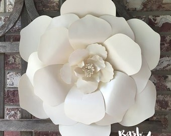 Large Magnolia Paper Flower Wall Decor for Nursery, Weddings, Bridal Showers, Baby Showers, Office, Bedroom or Living Room Decorations