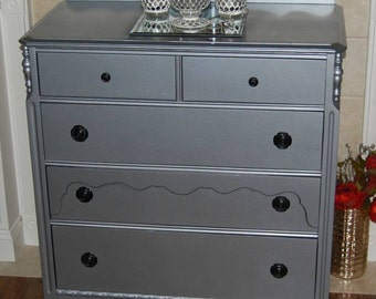 SOLD Chest Of Drawers Antique Restored and Restyled Local Pickup Only Early 1900's