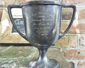 Antique 1916 Silver Plated Firemans Carnival Trophy