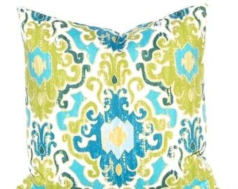 SALE Teal Pillows, Green Pillow Covers, Decorative Throw Pillow Covers, Quatrefoil Pillows, Sofa Pillows, Teal Green, Blue Green, Turquoise