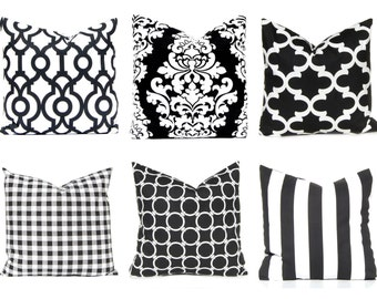 Black Pillow Cover - Decorative Pillow Covers - Black and White Pillow Cover - Black Trellis - Black Berlin - Black Throw Pillow Covers