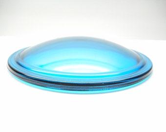 Vintage Railroad Blue  Signal Light Lens