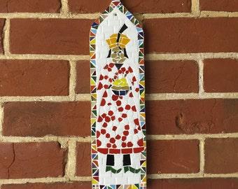 Indian princess mosaic art panel