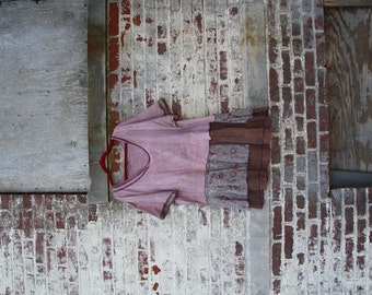 2X size /The Princess's Wave Tunic /Dress/One of a kind/Shabby chic/Country living/Cottage Chic