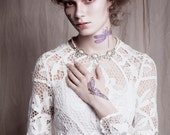 BOHEMIAN BEAUTY Vintage Venetian lace wedding dress