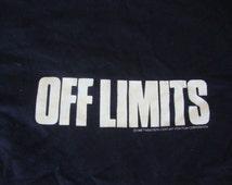 Vintage 80's Off Limits 1988 Movie Promo Vietnam War T Shirt Adult Size XL