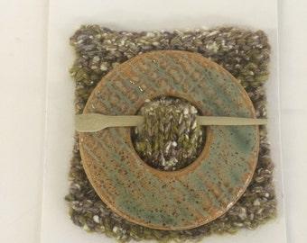 Ceramic shawl pin